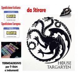 TERMOADESIVO - TRONO DI SPADE -TARGARYEN - PER T SHIRT E INDUMENTI