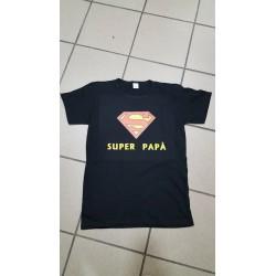 T-SHIRT FESTA' DEL PAPA' SUPER PAPA' BLU TAGLIA M