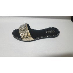 Scarpe donna fascia dorata n.40
