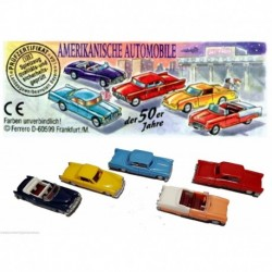 Details about  Automobile americana della 50er anni - kinder -  COMPLETA con 5 CARTINE GERMANIA