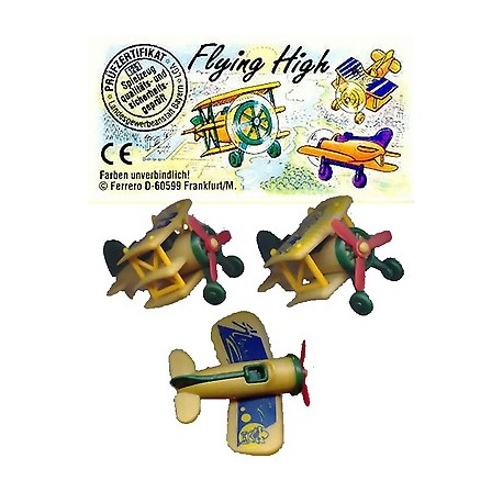 flying high  SERIE COMPLETA   - KINDER  - CON 3 CARTINE
