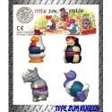 kinder rotule Typen Zum Kugeln Poule 702625 Allemagne 1996  4 CARTINE