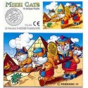 KINDER  - PUZZLE  MIEZI CATS - CON cartina