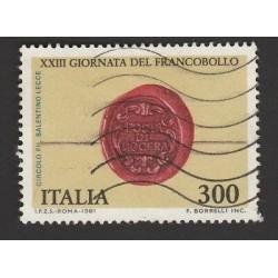 ITALIA REPUBBLICA 1981 XXIII GIORNATA DEL FRANCOBOLLO l300 - USATO