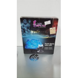 Luce led blu+ resina cristallo