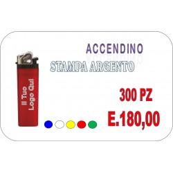 300 PZ ACCENDINI CON STAMPA IN ARGENTO CON LOGO