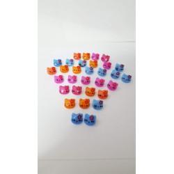 bottoni piccoli marroni 10 pz a 4 fori