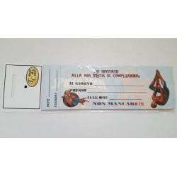 INVITI X COMPLEANNO 30 PZ SPIDERMAN